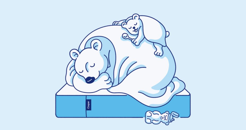 A lovely illustration from Casper mattress. Source: their blog.