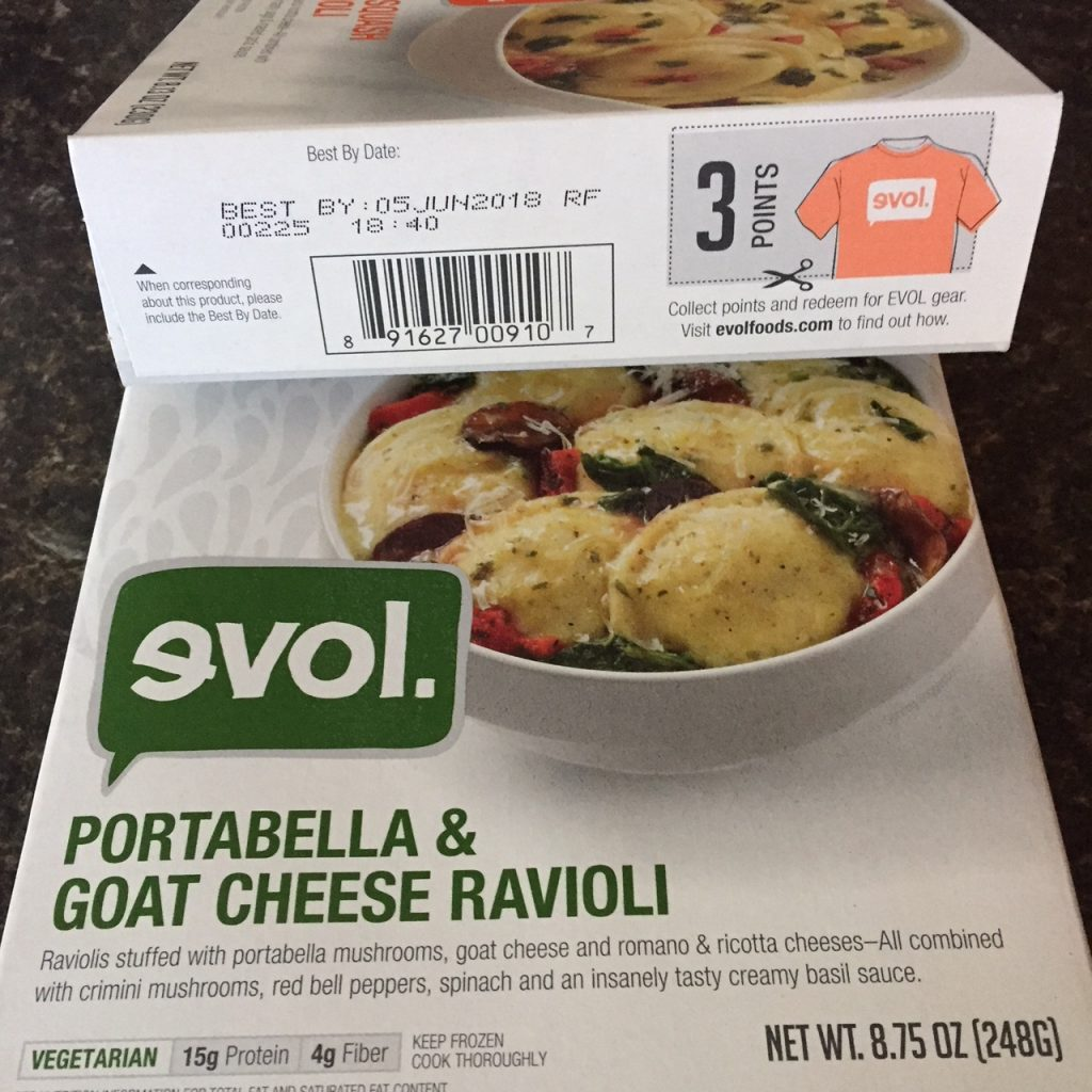 evol frozen dinners have points